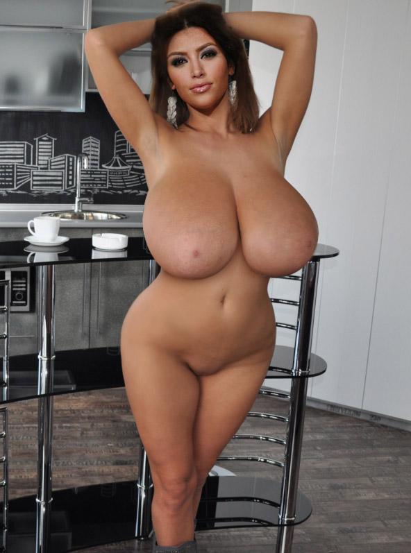 Kim kardashians big tits
