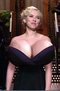 scarlett johansson grow amazing big tits