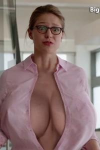 Melissa benoist fake huge boobs supergirl nude