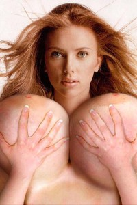 Scarlett Johansson massive tits big breast expansion